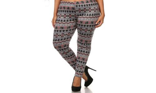 Lined print leggings