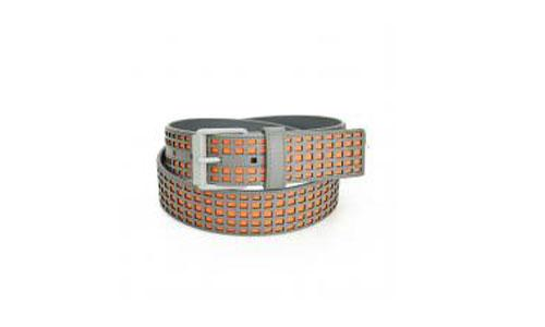 man casual belt with full laser grid