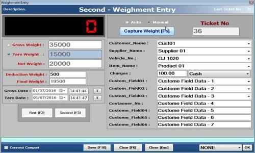 Weighing scale software